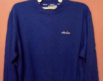 ELLESSE sweatshirt spell out small logo medium size sweater