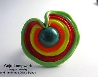 Change attachment, great change-top, multi colored Lampwork,