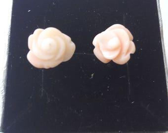 Pink Mediterranean Coral Earrings