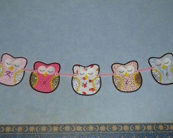 Owl Name Bunting~Personalised~Nursery Bunting~Nursery Decor~Caravan Decor~Owl Decoration~Owl Lovers~Bedroom Bunting~Personalised Gift