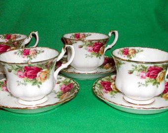 Four Old Country Roses Cup and Saucer Sets