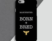 Manchester Phone Case  Bees  Charity  Personalised Phone Case  Iphone 6  Iphone 7  Phone Cover  Manchester Born  Bred