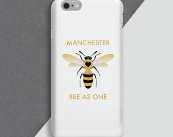Bee phone cover - personalised phone case -Manchester Bees- phone skin - personalised cell case - iphone - Charity Phone Cover | Manchester