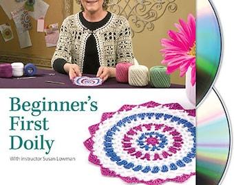 Beginner's First Doily Class DVD, by Susan Lowman (Lace Crochet Instructions)