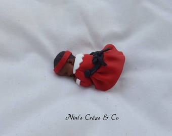 Baby Christmas Polymer Clay figurine