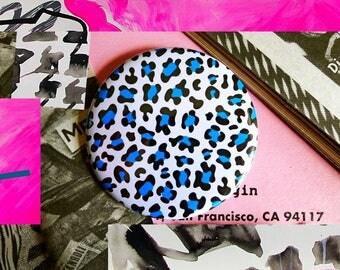Pocket mirror 'Blue Leopard'