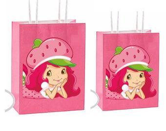 Strawberry Shortcake Party Favor Bag~ Strawberry shortcake Party Inspired Decorations & Decor instant download