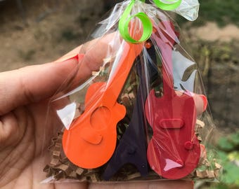 Boy Stocking Stuffer // Guitar PARTY FAVOR Crayons // Cheap Stocking Stuffer // Guitar Party // Rockstar Birthday // Personalized Gift
