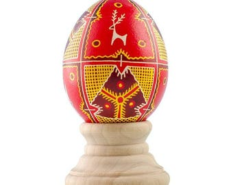 Buck Real Chicken Eggshell Hand Decorated Ukrainian Easter Egg Pysanky