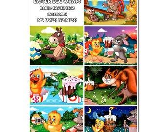 7 Cartoons Easter Egg Wraps