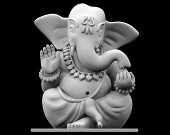 STL file of Desktop Ganesha Idol