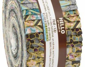 Villa Romana Vintage 2 1/2 Inch Strips Jelly Roll, 40 Pieces, Robert Kaufman, Precut Fabric, Quilt Fabric, Cotton Fabric