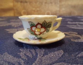Vintage Miniature Tea Cup and Saucer Made in Japan