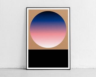 Circle 02. Wall art. Original poster. High quality giclée print. signed by designer.