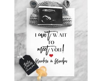 Pregnancy Announcement | Grandparents Pregnancy Reveal | Printable Poster | Due Date Reveal | Pregnancy Reveal | Baby Reveal | J