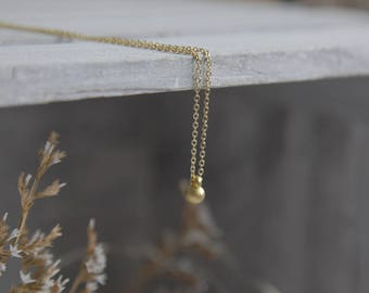 Essential Gold Necklace, Tiny Gold Necklace, Tiny Necklace, Simple Gold Necklace, Tiny Gold Drop Necklace, Gift for Women, Girlfriend Gift