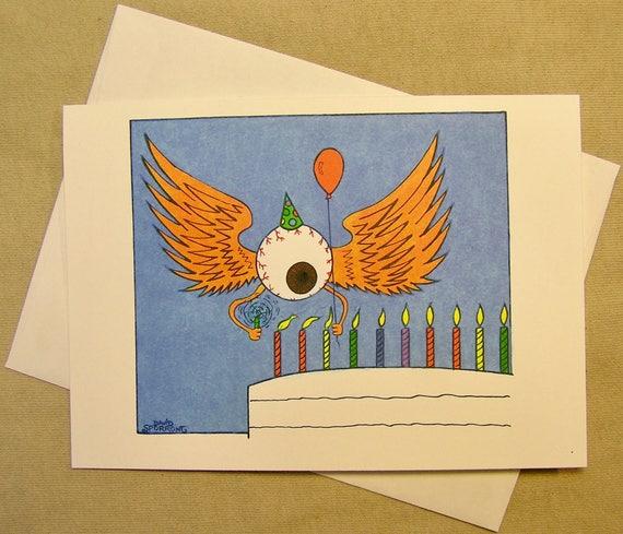 Grateful Dead Birthday Card Flying Eyeball Regular size card