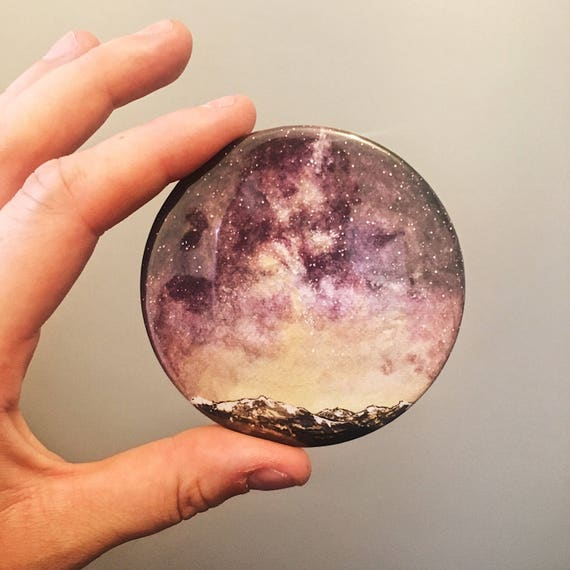 Purple Sky Pocket Mirror