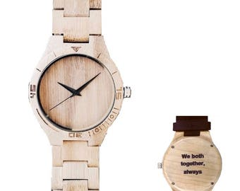 Personalized wood watch - Thor - Engraved
