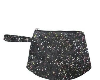 Black splash clutch bag diaper bag mommy bag baby bag nappy bag cool bag