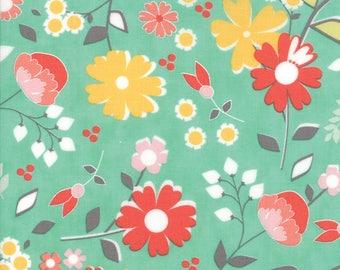 Flower Mill Bloomy Aqua by Corey Yoder of Moda Fabrics Fabric Yardage 29030 19