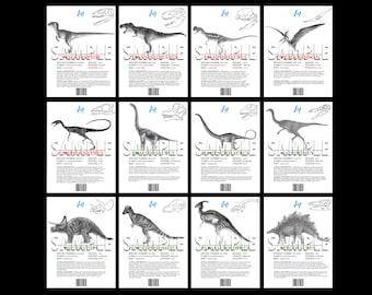 Jurassic Park, The Lost World, Dino Info Sheets, Printable Replica Prop