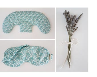 Duo relaxation : therapeutic compress (hot or cold) cervical and lavender mask