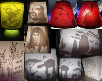 Customizable lampshade with secret designs