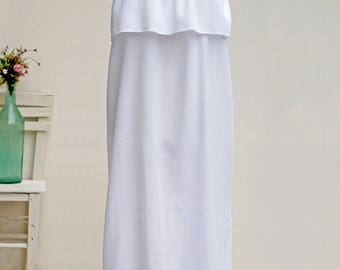 Cotton Oversized Dress   White Beach Dress