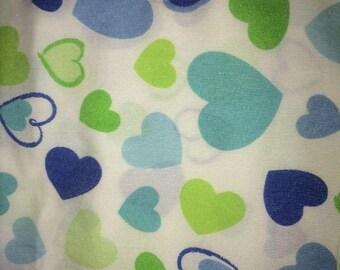 Vintage 7 pc Sheet Set Morgan Teen Twin 3 Sheets + 2 Shams 2 pillowcases Hearts