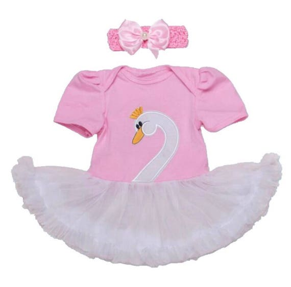 Halloween Costumes Baby Girl Clothes White Swan Ballerina