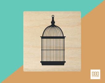 Bird Cage - 3cm Rubber Stamp (DODRS0081)