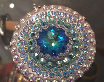 Swarovski crystal brooch crystal clay