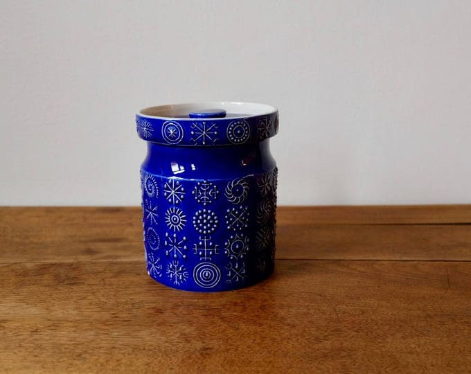 Portmeirion Cookie Jar - Totem Design - Indigo colour