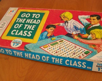 Vintage 1967 Board Game Go to the Head of the Class by Milton Bradley – Retro Family Game