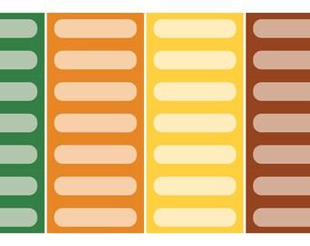 Quarter Box Planner Stickers: Citrus
