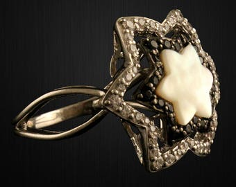 Mother Of Peral Star Ring