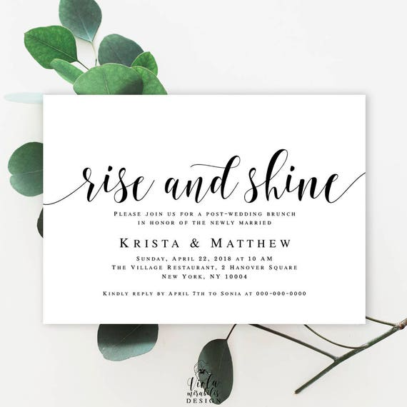 Post wedding brunch invitation wedding template editable post wedding brunch invitation wedding template editable template summer wedding ideas rise and shine invitation template download vm31 stopboris Gallery