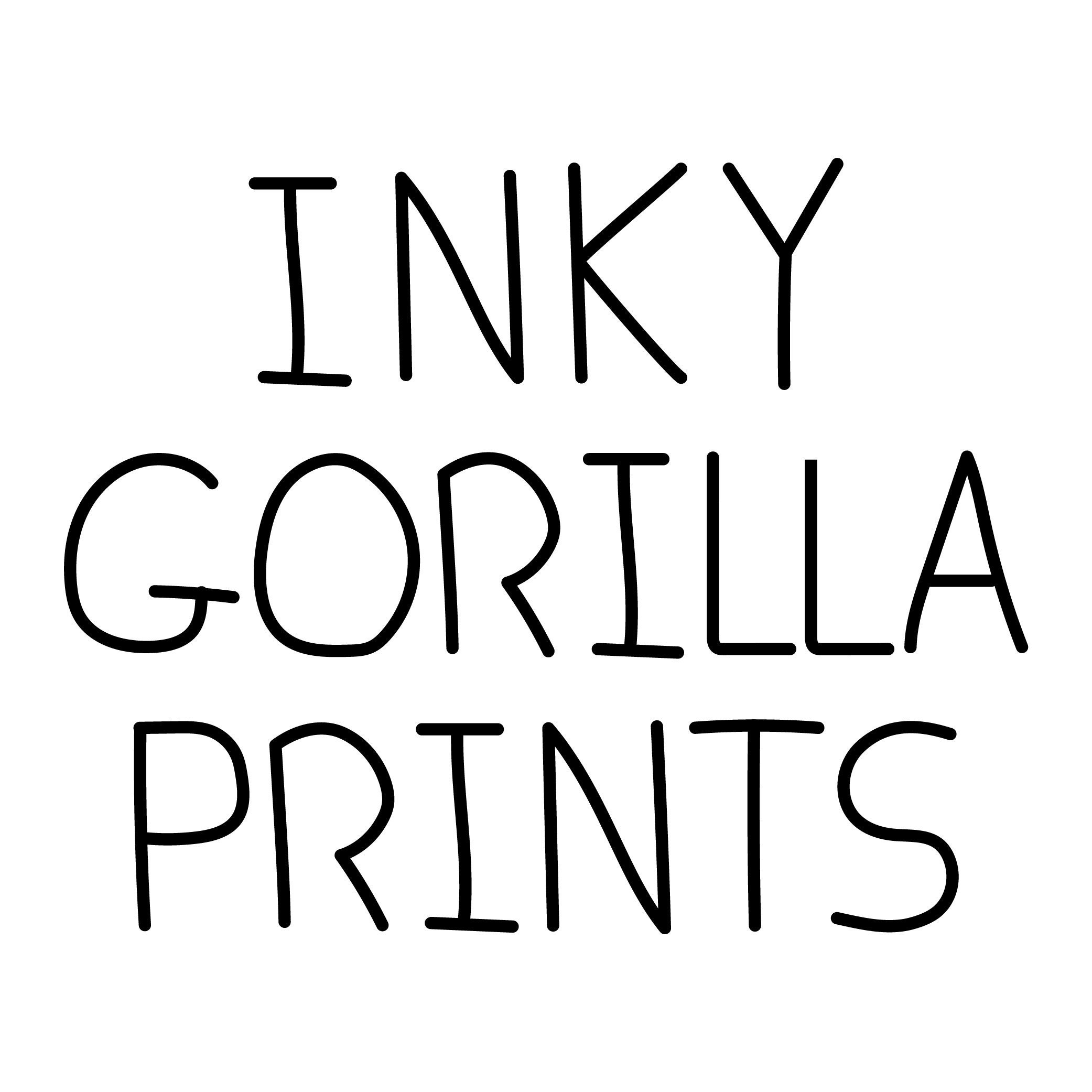inky gorilla posters prints to brighten any by inkygorilla