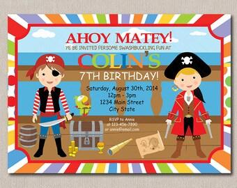 Pirates Invitation, Pirates Birthday, Pirates Party, printable