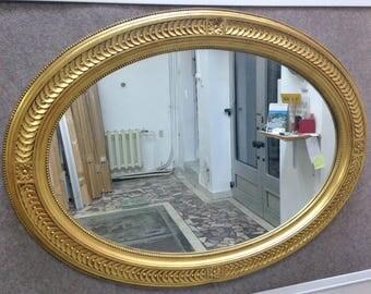 M14 Antique Solid Wood Mirror