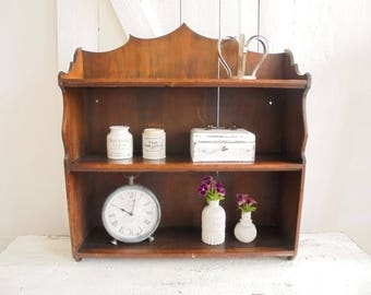 Vintage shelf wood wooden shelf shelf Spice rack kitchen shelf