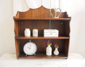Vintage shelf wood wooden shelf shelf Spice rack kitchen shelf