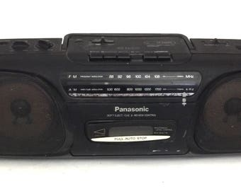 Vintage Black Panasonic Boombox Ghetto Blaster Stereo Model RX-FS430 Radio Only