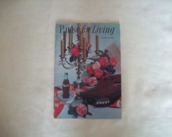 Pause For Living Magazine by Coca Cola Winter 1959-60. Paperback. Vintage.