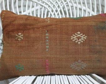 brick color pillow 12x20 brown lumbar pillow moroccan furniture 12x20 outdoor lumbar pillow chair cushions 12x20 lumbar pillow 1180