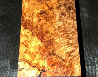 Stabilized Birdseye Maple Burl Vape Mod Block E-009