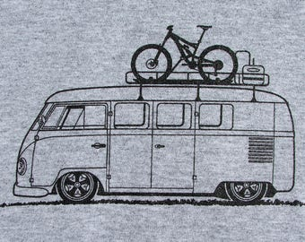 Bicycle T Shirt Bike with VW Bus