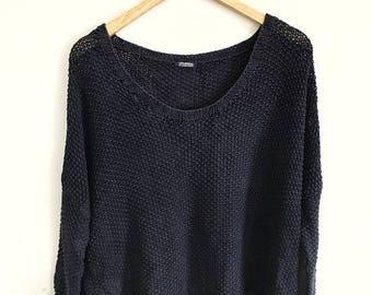 "25% DROP Journal Standard Oversized Cropped Hand Knit Sweater Armpit 29""x21"""