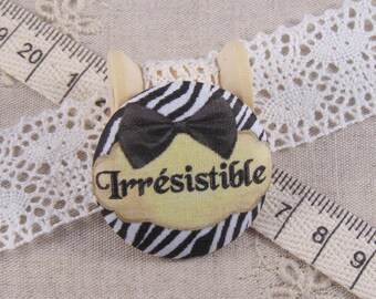 x 1 22mm fabric button irresistible ref A13